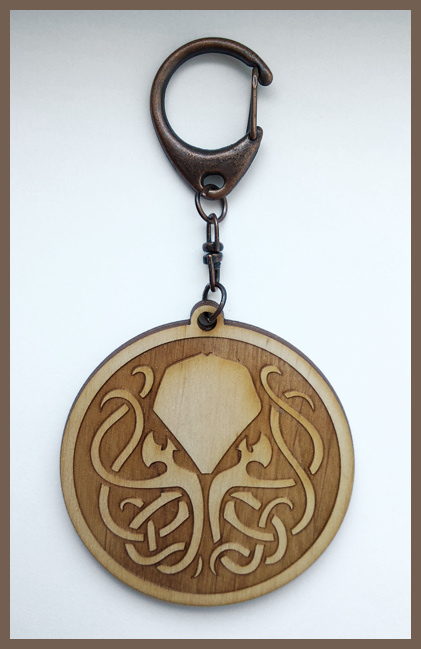 CALL OF CTHULHU - wood keyring by Piciuu