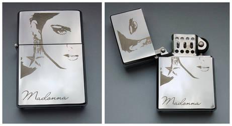 MADONNA - engraved lighter by Piciuu