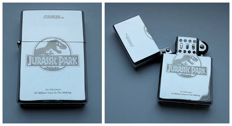 JURASSIC PARK - engraved lighter