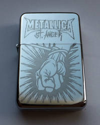 METALLICA - engraved lighter