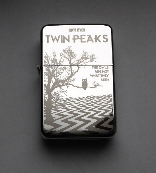 TWIN PEAKS - engraved lighter by Piciuu