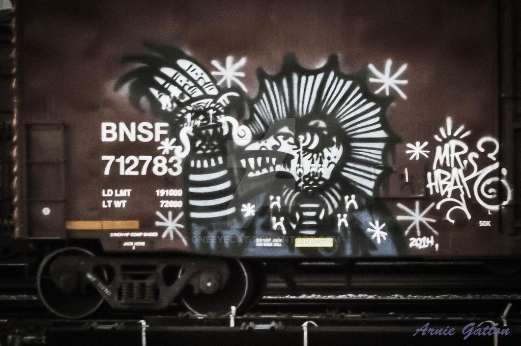 Graffiti on a Boxcar by Oneeyecat