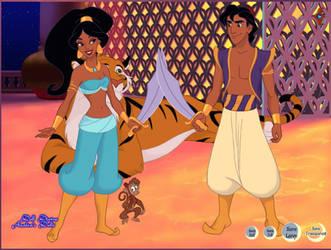 Aladdin and Jasmine battle mode by MariaTenebre