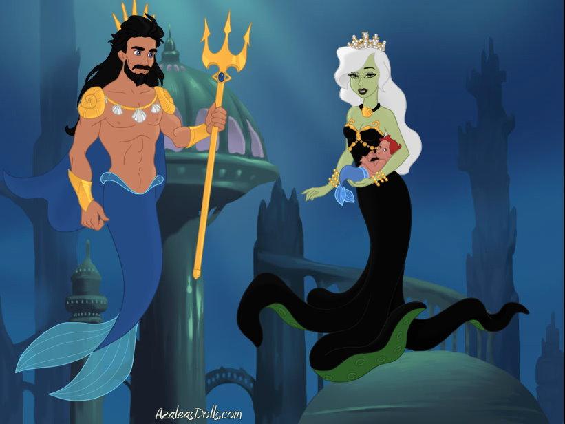 King Poseidon and Queen Amphitrite by MariaTenebre