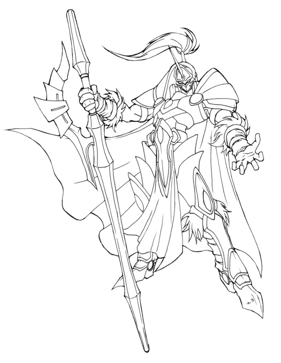 Line Drawing Knight : Knight concept lineart by onichild on deviantart
