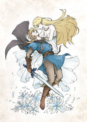 Zelda and Link: Breath of the Wild by OniChild