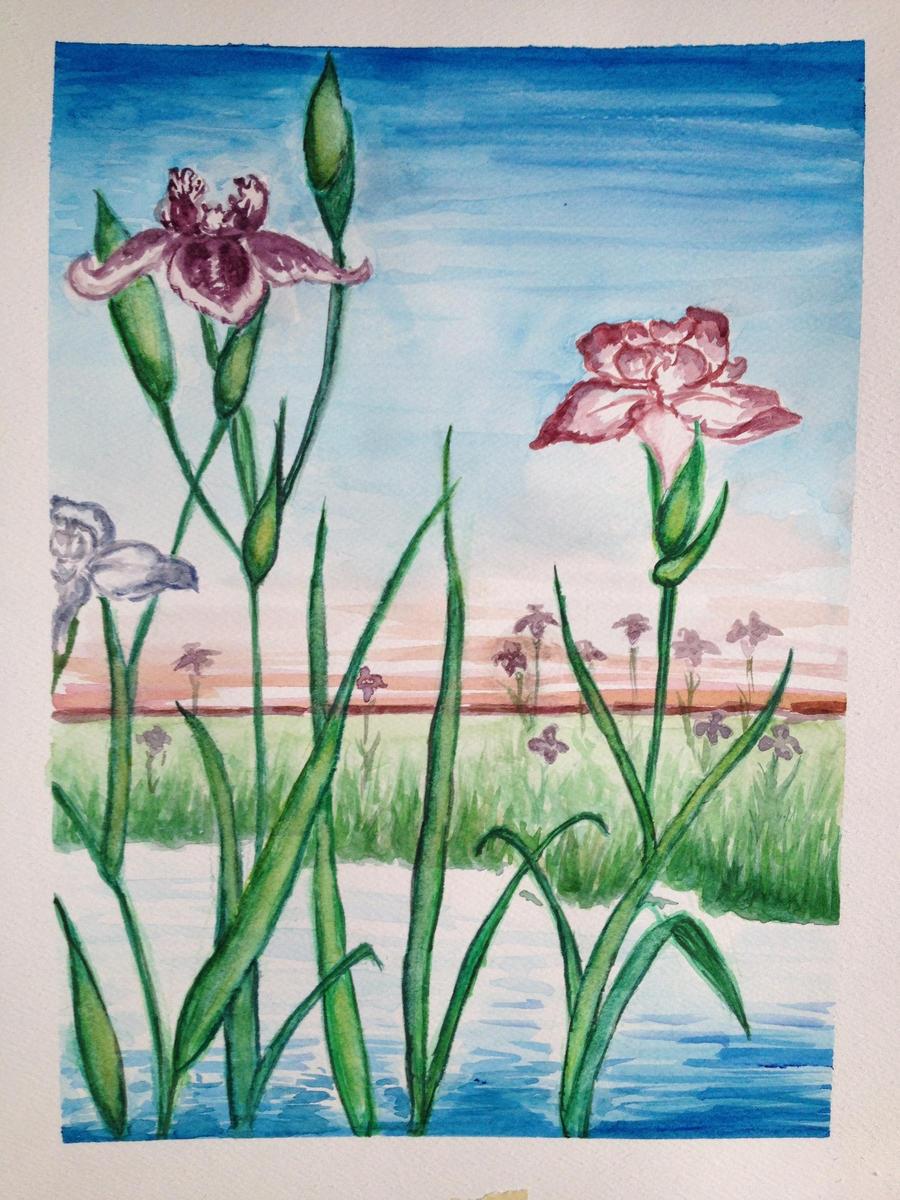 Ukiyo-E Inspired Irises by RivkaS