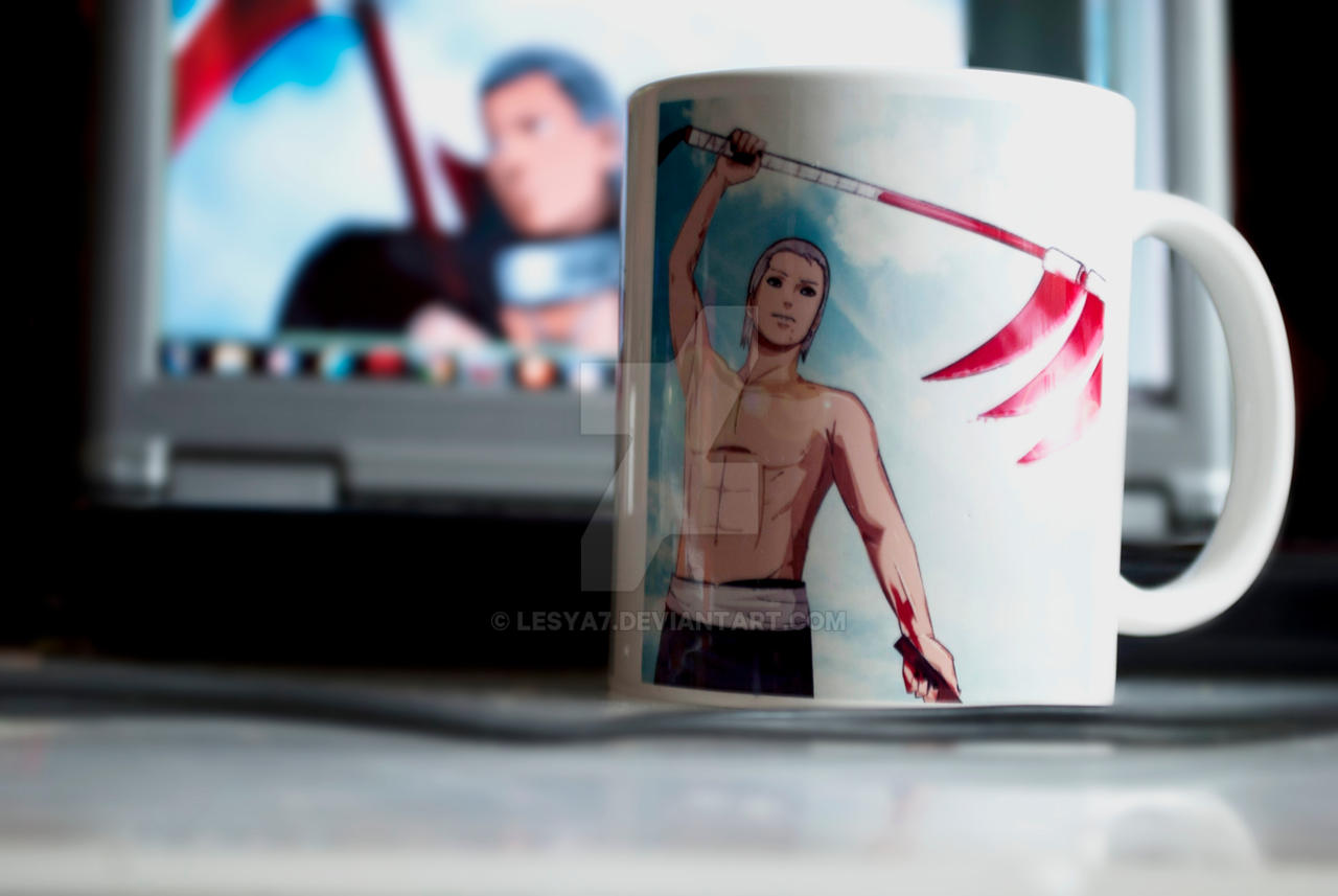 my cup with my art xD by Lesya7