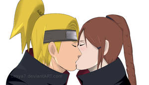 Commission: Deidara x OC kiss