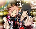 SasuSaku punk style: Fuck you bitches!