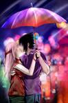 SasuSaku: The rain kiss