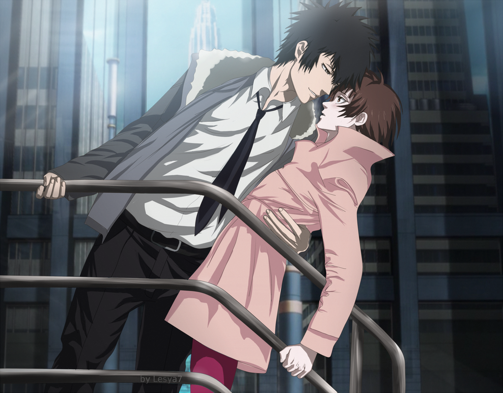 Psycho-pass: Kogami Shinya x Tsunemori Akane by Lesya7