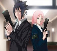 SasuSaku: Psycho-pass crossover