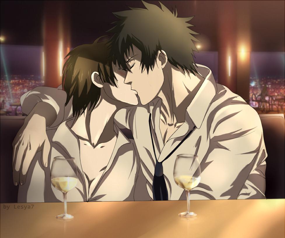 Psycho-pass: Kogami x Tsunemori - Kiss by Lesya7