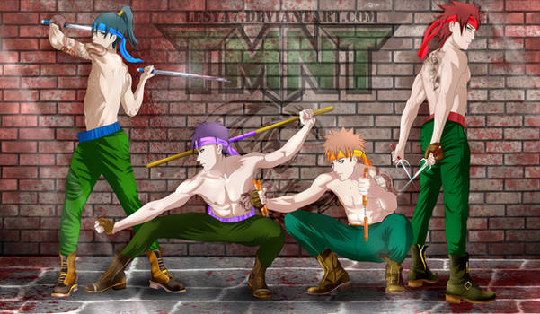 TMNT anime style humans