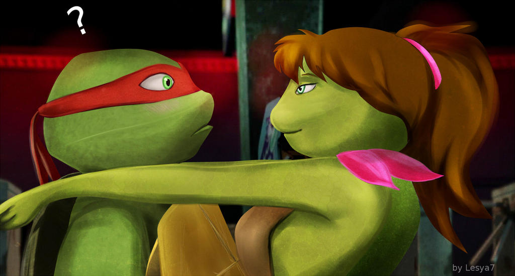 TMNT 2012 Raphael and Mona Lisa by Lesya7