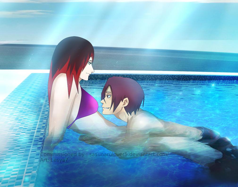 Commission: Free! - Rin Matsuoka  x OC by Lesya7