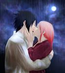 SasuSaku: Kiss Under the Rain