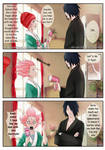 SasuSaku Coloring: Comic strip by Black Rose by Lesya7