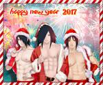 HAPPY NEW YEAR 2017 Uchihas - Sasuke Madara Izuna
