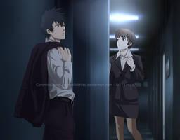 Psycho-pass Commission: Kogami x Akane by Lesya7