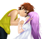 Saint Seiya PayPal Commission: Seiya and Saori