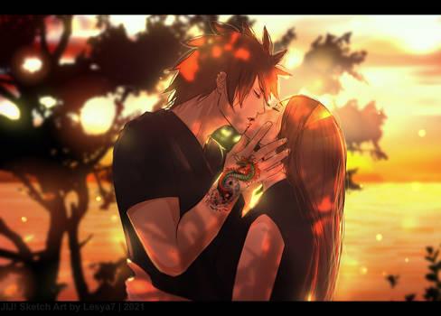JIJ! Sketch art Indra x Ayame Kiss