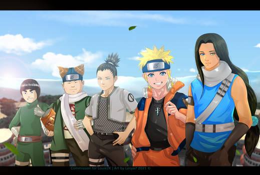 Commission: Lee Choji Shikamaru Naruto Isui (OC)