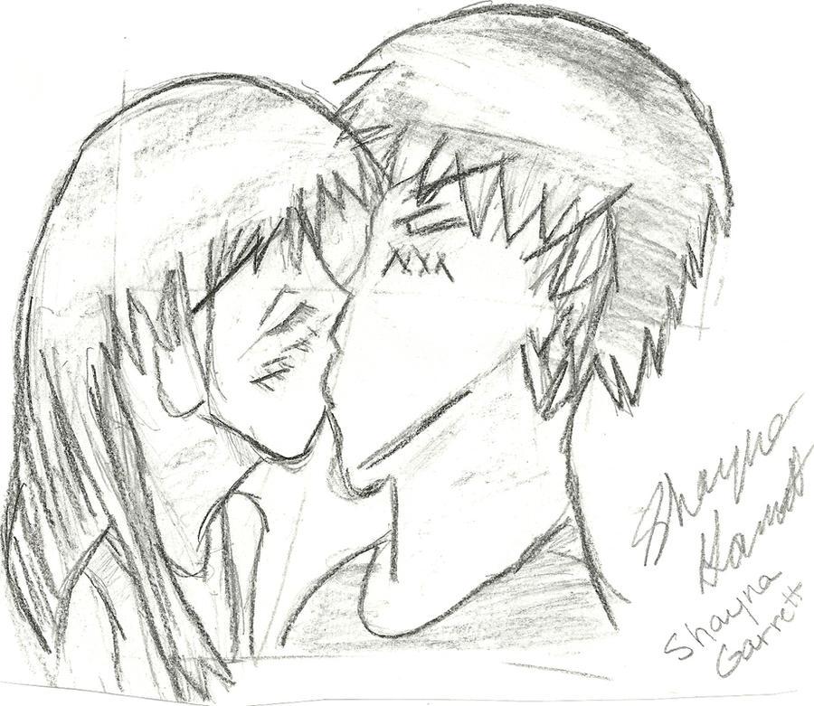 Anime Couples Kissing Drawing