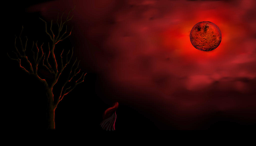 Red Full Moon Wallpaper Red Moon by LindaNoul ...