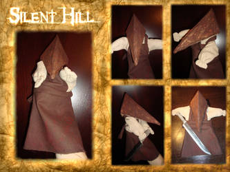 Pyramid Head hand puppet by LindaNoul