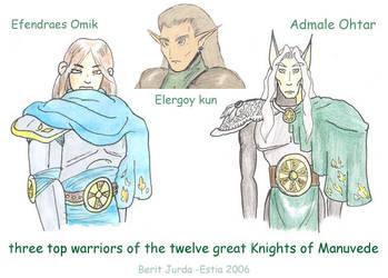 3 best knights of Manuvede by Estia-fanclub