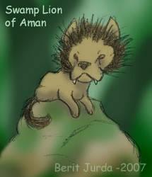 Swamp lion of Aman by Estia-fanclub
