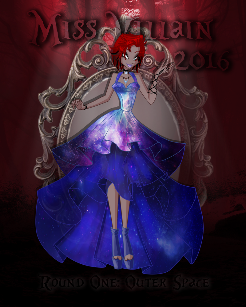 Miss villain 2016 1st round outer space by anazgred on for Outer space 2016