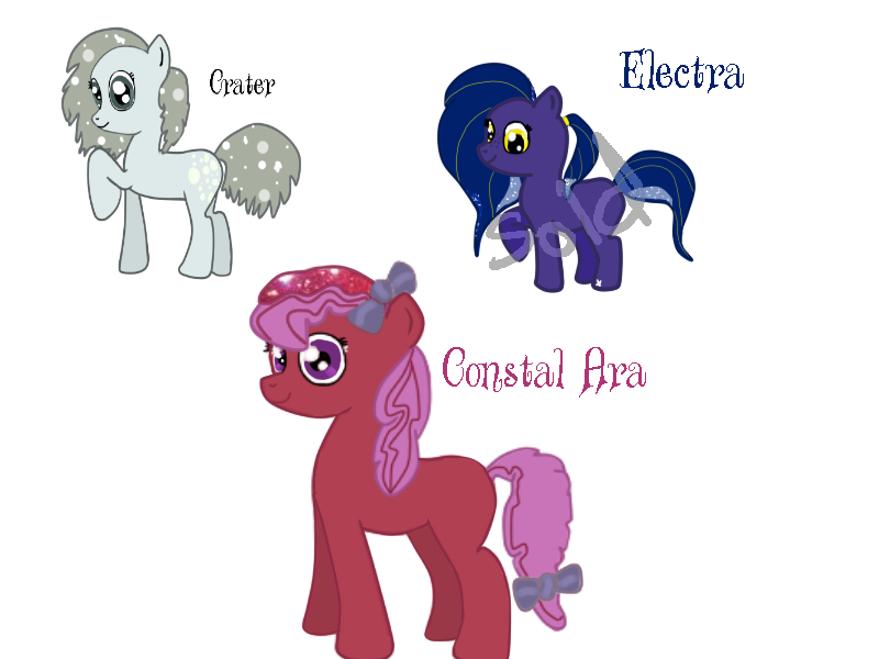 Leftover space pony adoptables! by shimmer-thestral