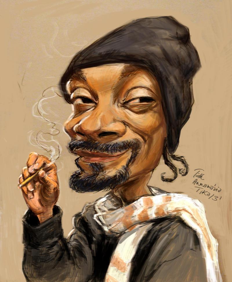 Snoop Dogg caricature by Mandala87