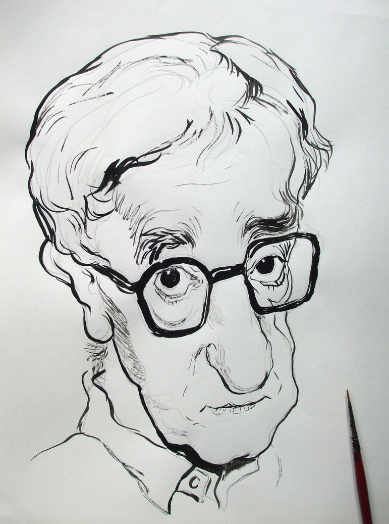 Woody Allen caricature by Mandala87