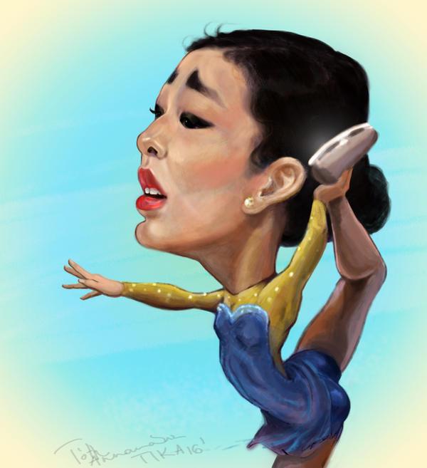 Yuna Kim digital caricature by Mandala87