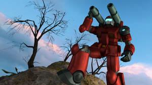 SFM Mobile Suit Gundam: RX-77-2 Guncannon by UniWaifu