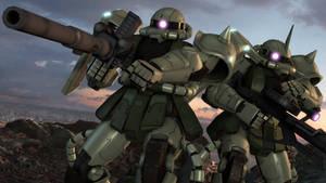 SFM Mobile Suit Gundam: Zaku II by UniWaifu