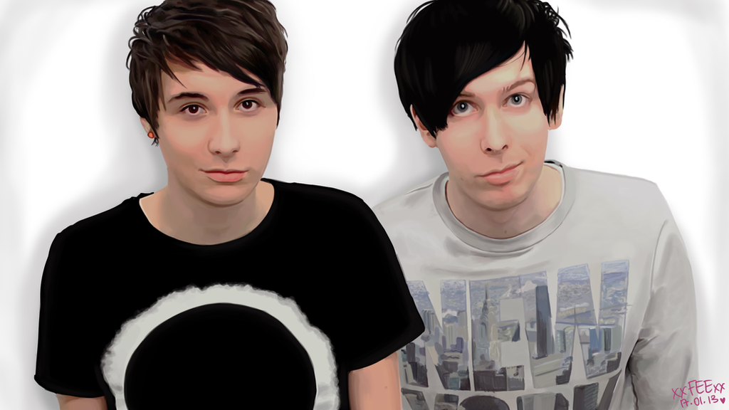 Pin Dan And Phil Youtube on Pinterest Youtube Collage Drawing