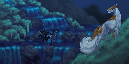 a meeting at the falls,