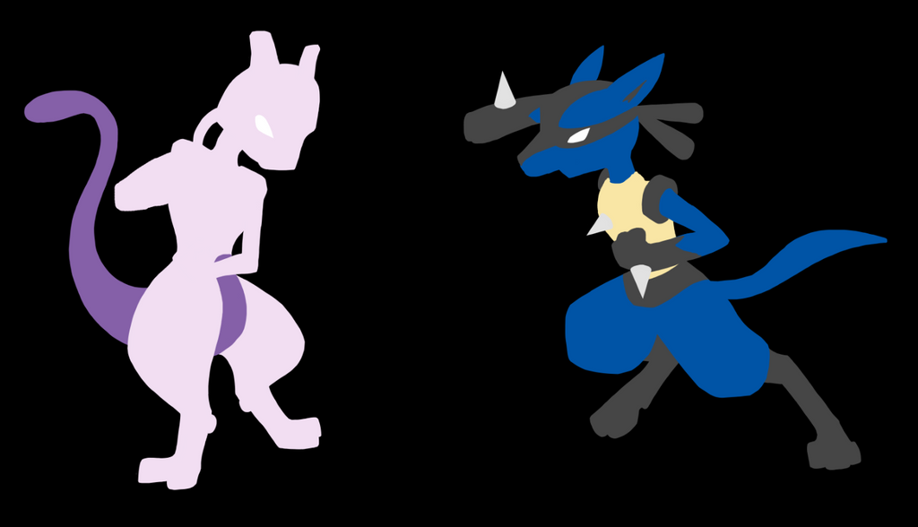 mewtwo vs lucario: minimalist by dragonflare36 on DeviantArt