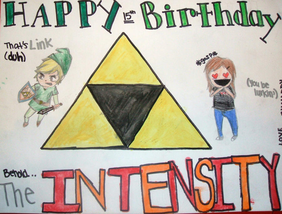 Zelda Birthday Card By Harveykm On Deviantart