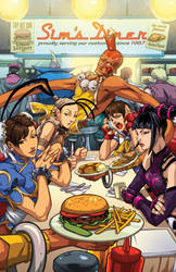 Street Fighter 25th Anniversary Diner by edwinhuang