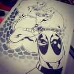 Hulk vs Deadpool SDCC'15 Commission