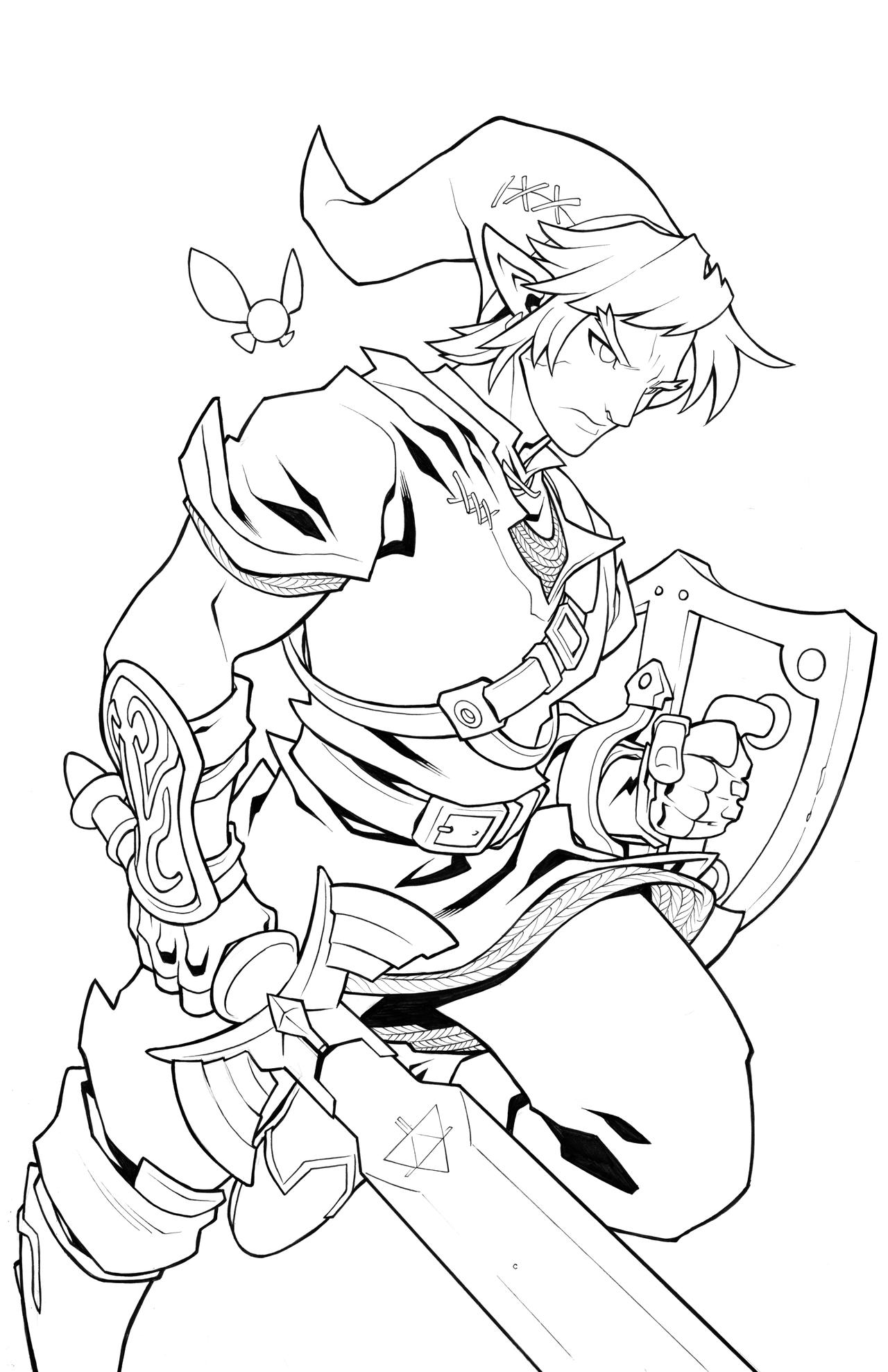 It is an image of Sweet breath of the wild coloring pages