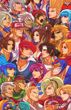 King of Fighters Heads