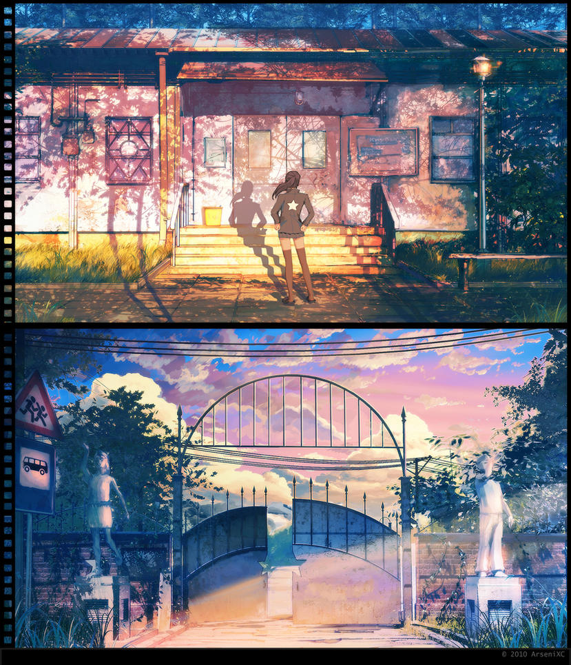 Deviantart coloring clubs - Clubs Gate Sunset By Arsenixc