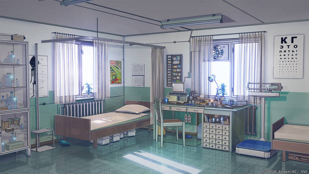 Medical point in summer camp